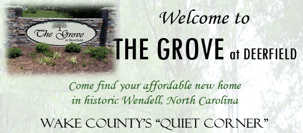 New homes in Wendell - The Grove at Deerfield